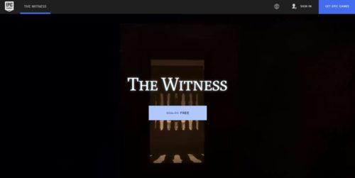 Stáhněte si z Epic Games Store hru The Witnes zdarma