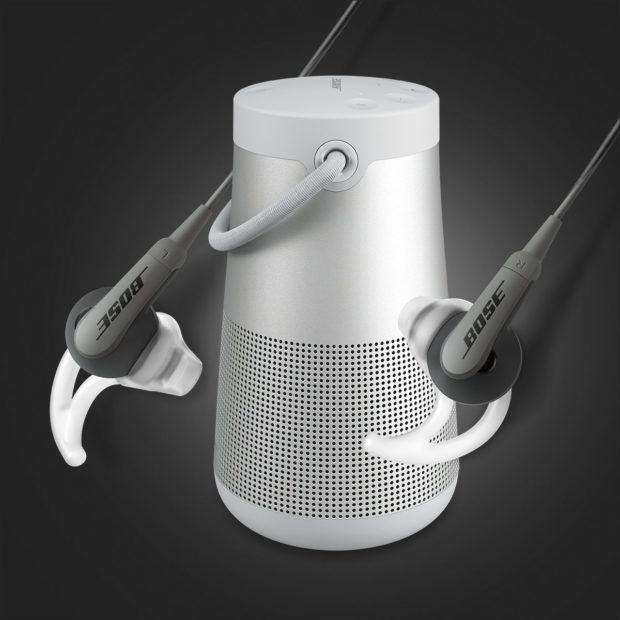 Bose rozdává ke stříbrnému reproduktoru Revolve+ sluchátka zdarma