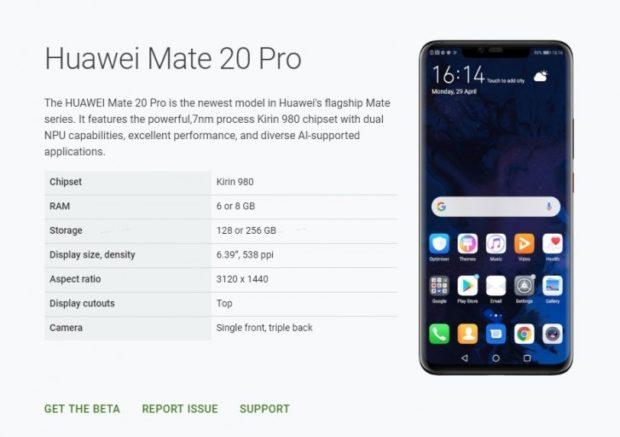 Huawei Mate 20 Pro získal znovu možnost testovat Android Q