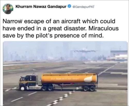 Pákistánský politik si spletl realitu se záběry ze hry GTA 5