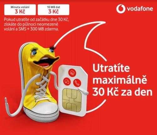 Maximálně 30 korun za den, nová předplacená karta Vodafonu hlídá rozpočet