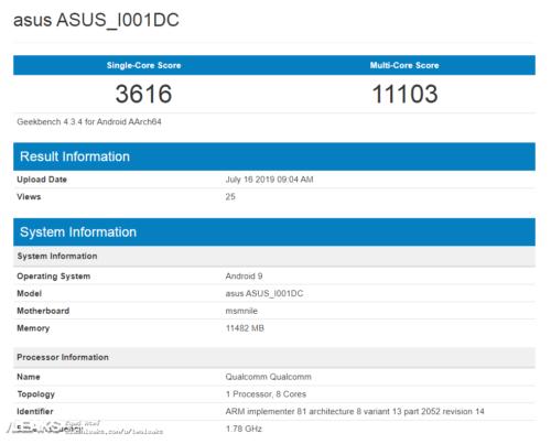 ASUS ROG Phone 2 s procesorem Snapdragon 855 Plus v testu Geekbench