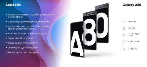Ode dneška je v prodeji Samsung Galaxy A80. Má unikátní otočný fotoaparát