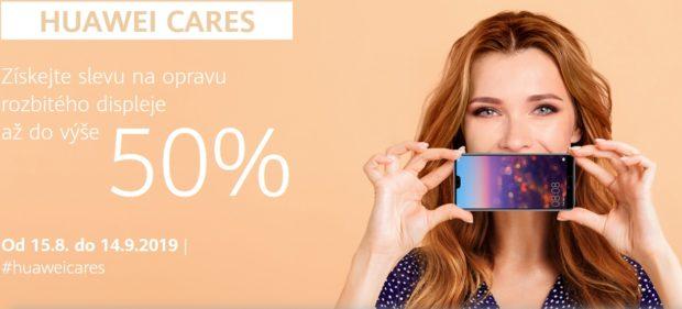 Huawei Cares přináší až 50% slevu na výměnu rozbitého displeje