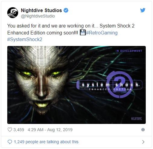 Legendární System Shock 2 se dočká Enhanced Edition