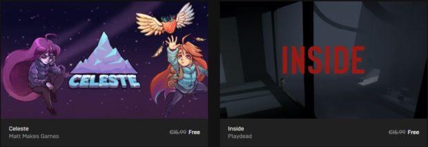 Stahujte z Epic Games Store herní pecky Celeste a Inside!