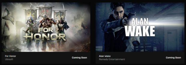 Epic Games Store rozdává zdarma hry Alan Wake a For Honor