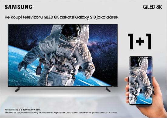 Samsung dává k televizorům QLED 8K zdarma telefon Galaxy S10