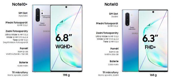 Samsung zahájil prodej špičkových telefonů Galaxy Note10+ a Note10