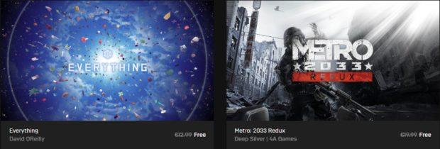 Tohle je pecka! Stahujte hry Metro 2033 Redux a Everything zdarma