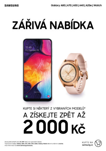 Podzimní akce Samsungu: k nákupu Galaxy S10 zdarma Galaxy Watch Active