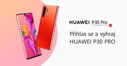 Huawei rozdává tajné kódy a spouští soutěž o telefon P30 Pro