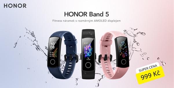 Honor Band 5 v prodeji! Má pěkný AMOLED displej a změří kyslík v krvi