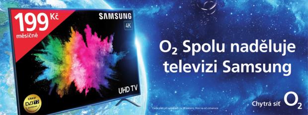O2 k Vánocům nadělí chytrou 4K televizi Samsung za 199 korun měsíčně i bonus až 4 tisíce na mobily