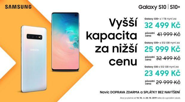 Samsung dočasně zlevňuje telefony Galaxy S10 a S10+ s 512GB a 1TB pamětí