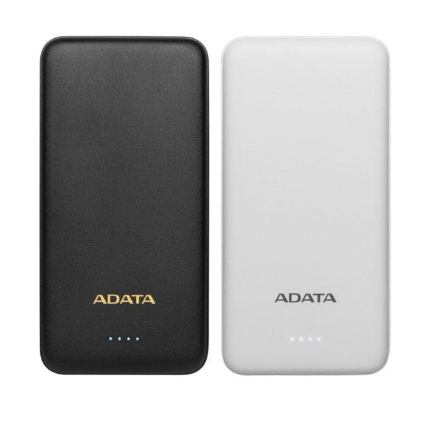 ADATA T10000 je štíhlá powerbanka s kapacitou 10 000 mAh a dvěma konektory