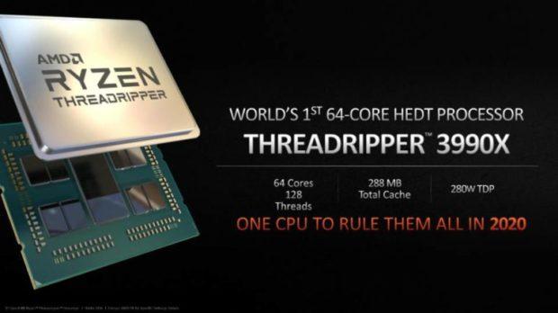 AMD Ryzen Threadripper 3990X dorazí příští rok. Dostane 64 jader a má vládnout všem!