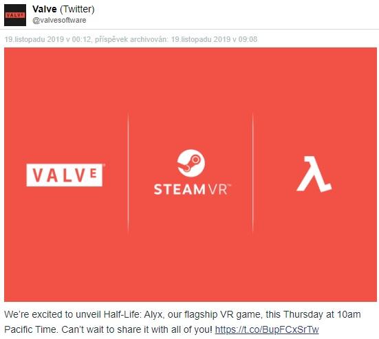 Valve zítra představí nový Half-Life
