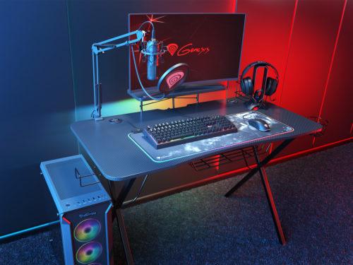 Genesis Holm 300 je herní stůl s podsvícením