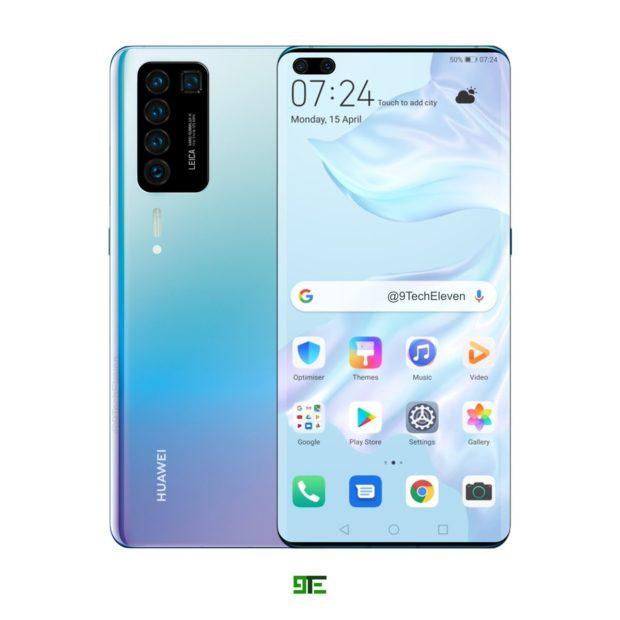 Huawei P40 (Pro) se předčasně odhaluje: 5 500mAh baterie, 120Hz displej a Kirin 990