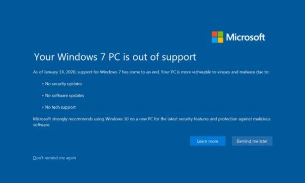 Microsoft ukončil podporu operačního systému Windows 7