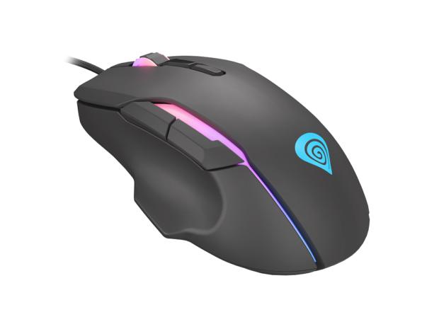 Genesis Xenon 220 je herní myš s RGB podsvícením a dynamickou změnou dpi