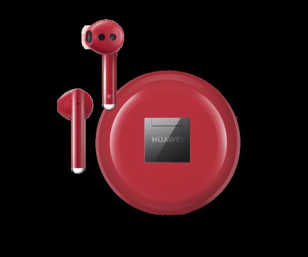 Huawei Freebuds 3 zamíří do prodeje i v červené. Už v únoru
