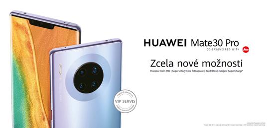 K Huawei Mate 30 Pro dostanete sluchátka FreeBuds 3 zdarma a Watch GT2 za korunu