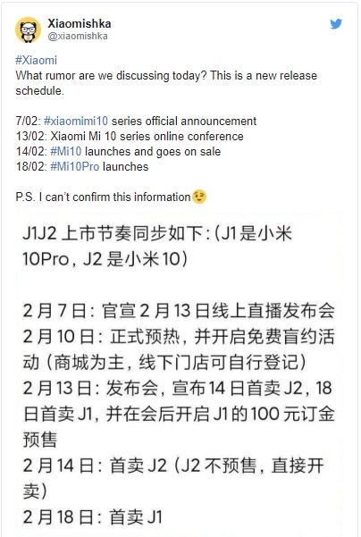 Premiéra Xiaomi Mi 10 bude online, kvůli infekci nového koronaviru