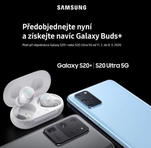 Samsung k telefonům S20+ a S20 Ultra 5G přibalí bezdrátová sluchátka za 4,5 tisíce