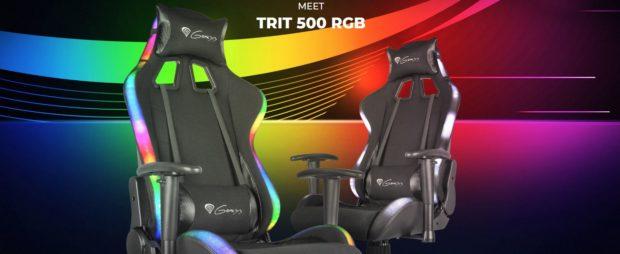 Genesis Trit 500 je nové herní křeslo s RGB podsvícením