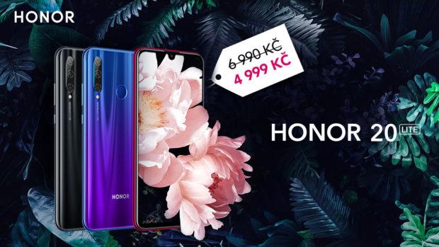 Honor 20 Lite v březnu zlevňuje na necelých 5 tisíc korun