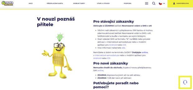 SAZKAmobil pomáhá v době koronaviru, zákazníci mohou bezplatně volat a posílat SMS