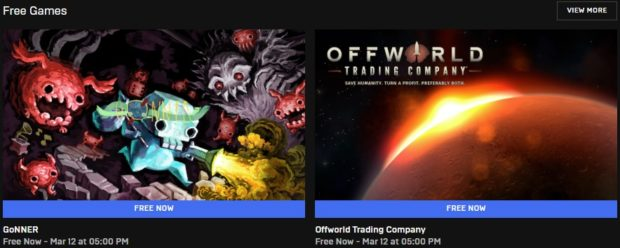 Hry zdarma: GoNNER a Offworld Trading Company