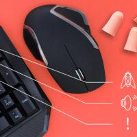 Yenkee Overloud: Nejhlasitější set klávesnice a myši na světě