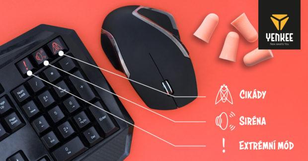 Je libo zvuk cikád nebo siréna? Yenkee uvádí netradiční set myši a klávesnice