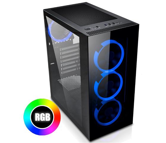 PC skříně Evolveo Ptero Q mají předinstalované podsvícené ventilátory