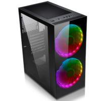 Počítačové skříně Evolveo Ptero Q lákají na předinstalované ventilátory s podsvícením