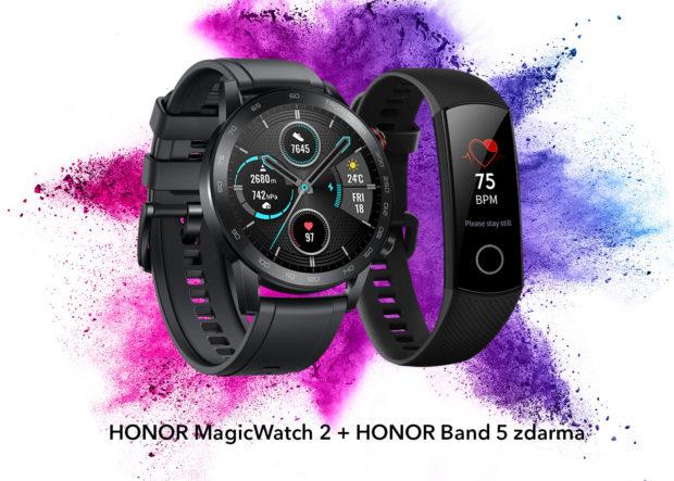 K chytrým hodinkám Honor MagicWatch 2 dostanete fitness narámek Band 5 zdarma