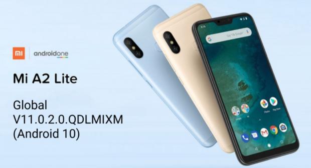 Rok a půl staré Xiaomi Mi A2 Lite dostává Android 10