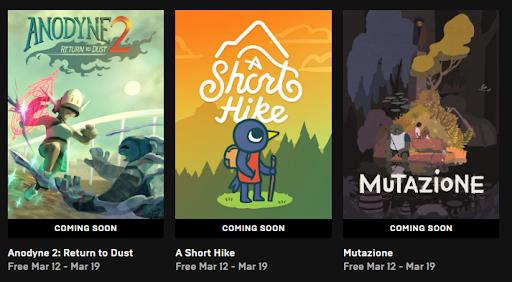 Epic Games Store rozdává tři hry zdarma: Anodyne 2: Return to Dust, A Short Hike a Mutazione